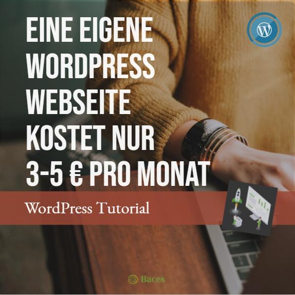 kosten eigene wordpress webseite