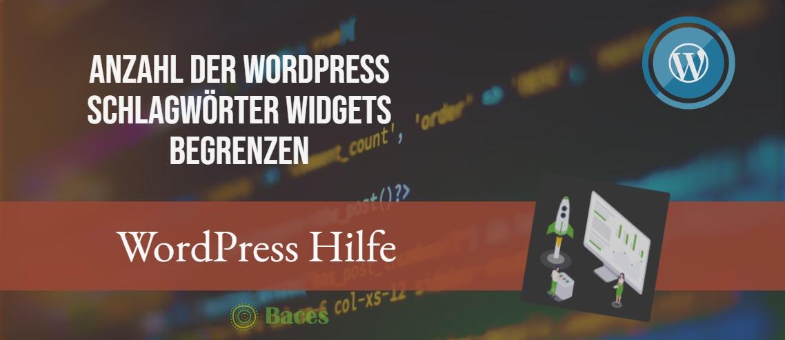 Anzahl der WordPress Schlagwörter Widget begrenzen Titel