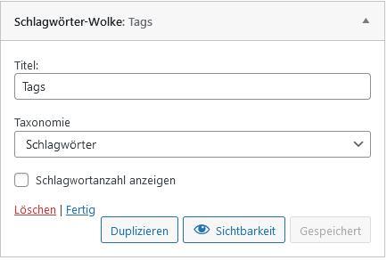 Anzahl der WordPress Schlagwörter Widget begrenzen